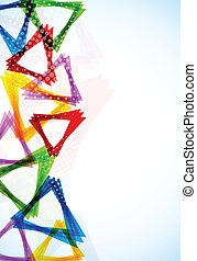 Bright background with triangles. Abstract colorful...