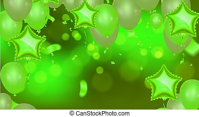 Bright balloons Time for party generated image for cards, gifts, invitations sales, web design