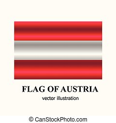 Bright banner with flag of Austria. Happy Austria day button. Vector illustration.