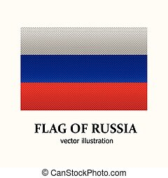 Bright banner with flag of Russia.