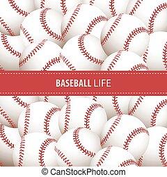 bright baseball background