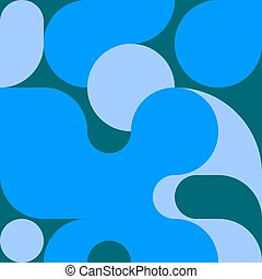 Bright bauhaus background with geometric shapes