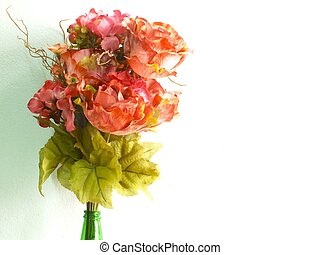 bright beautiful colorful plastic flower bouquet