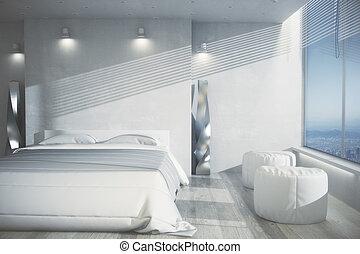 Bright bedroom interior