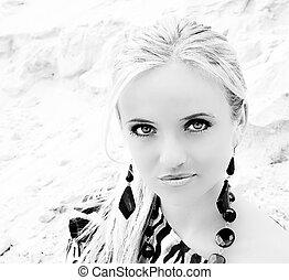 Bright blonde portrait