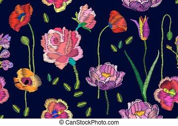 Bright blooming flowers.