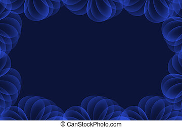 bright blue abstract background with circle layers