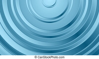 Bright blue abstract circles video animation