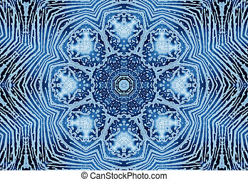 Bright blue abstract concentric pattern