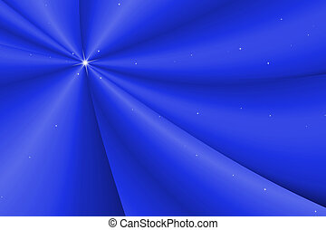 Bright blue abstract fabric wave glowing background