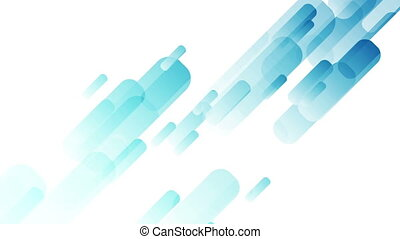 Bright blue abstract hi-tech shapes video animation - Bright...