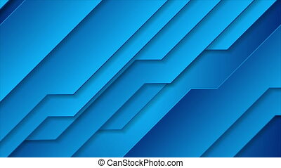Bright blue abstract technology geometric motion animated background