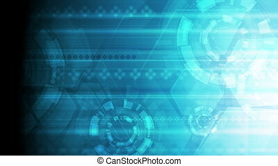 Bright blue abstract technology video animation - Bright...