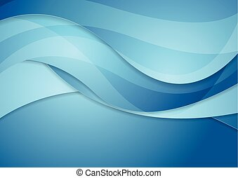 Bright blue abstract waves background