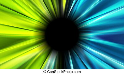 Bright blue and green glowing beams video animation