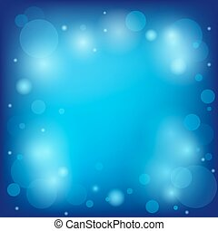 bright blue background with bokeh