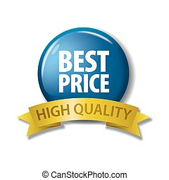 Bright blue button 'Best Price - High Quality'