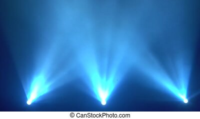 Bright Blue flashing lights stage