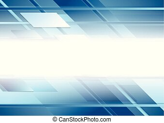 Bright blue geometric technology background