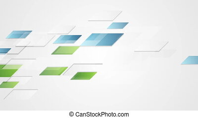 Bright blue green geometric corporate motion background -...