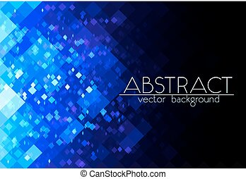 Bright blue grid abstract horizontal background - Bright...