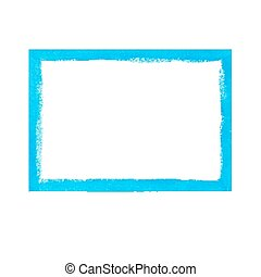 Bright blue grunge frame