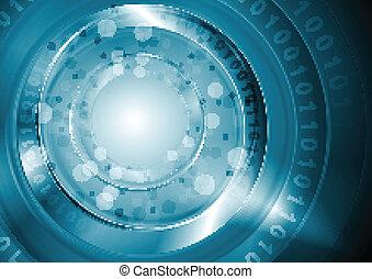 Bright blue hi-tech vector design
