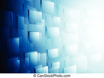 Bright blue hi-tech vector motion background