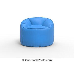 Bright blue lazy