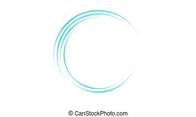Bright blue loading waiting rings video animation - Bright...