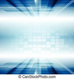 Bright blue motion technology vector background - Bright...