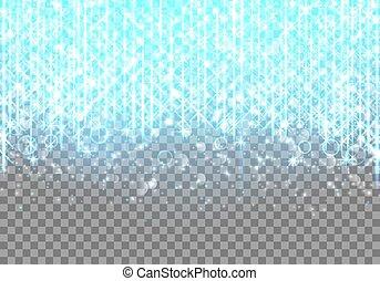 Bright blue neon glare - Brilliant vector illustration with ...