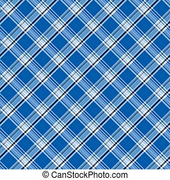 Bright blue plaid - Illustration of blue plaid as a...