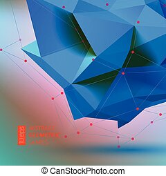 Bright blue Polygon geometry shape. Vector illustration