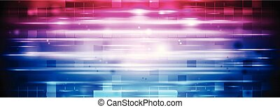 Bright blue purple abstract shiny geometric background