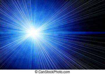 bright blue star