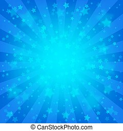 Bright blue starry background