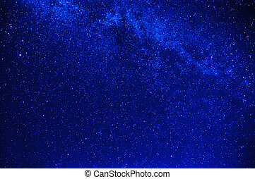 bright blue starry sky with milky way