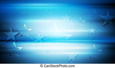 Bright blue stars video animation