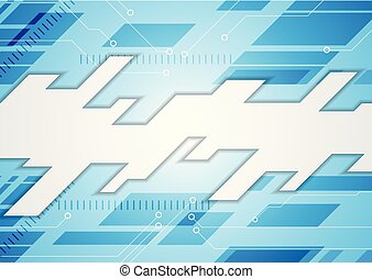 Bright blue technology abstract background