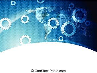 Bright blue technology background