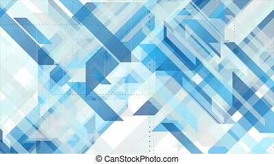 Bright blue technology geometric abstract motion background