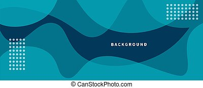 Bright blue wide background with organic shapes