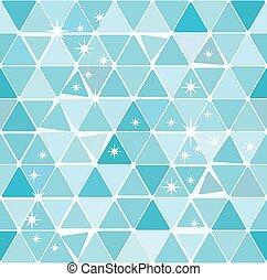 Bright blue winter triangle pattern
