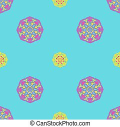 Bright blue, yellow and pink abstract background