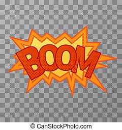 Bright boom comic sound effect on transparent background.jpg