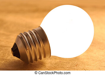 Bright bulb, inspiration, ideas