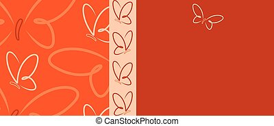 Bright Butterfly banner in vector format.