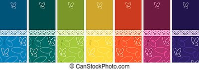 Bright Butterfly banner set in vector format.