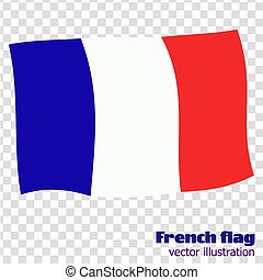 Bright button with flag of France. Banner illustration with flag. Happy France day background.